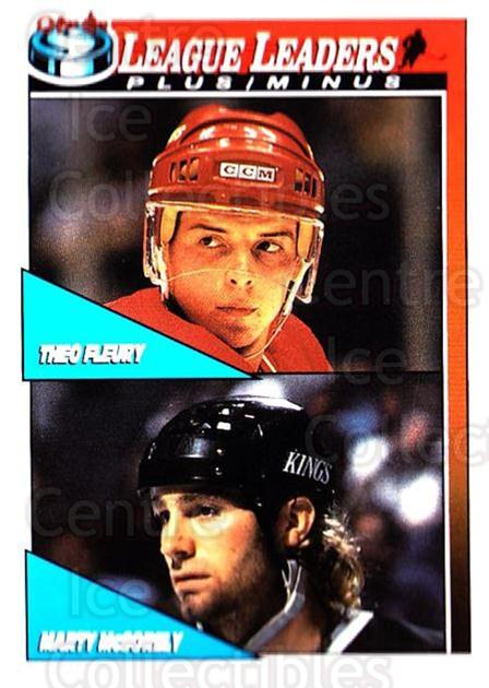 1991-92 O-Pee-Chee #322 Theo Fleury, Marty McSorley<br/>5 In Stock - $1.00 each - <a href=https://centericecollectibles.foxycart.com/cart?name=1991-92%20O-Pee-Chee%20%23322%20Theo%20Fleury,%20Ma...&quantity_max=5&price=$1.00&code=254289 class=foxycart> Buy it now! </a>