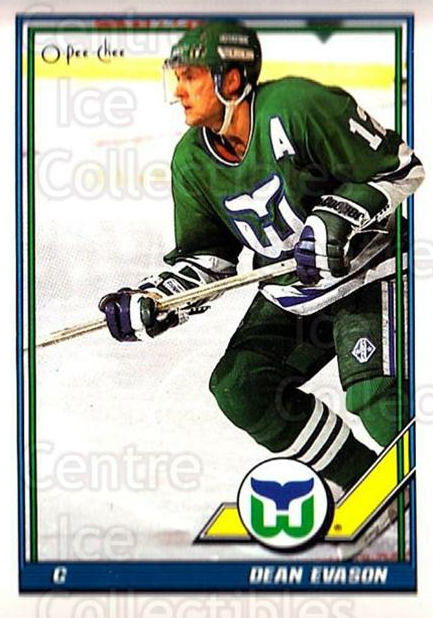 1991-92 O-Pee-Chee #325 Dean Evason<br/>6 In Stock - $1.00 each - <a href=https://centericecollectibles.foxycart.com/cart?name=1991-92%20O-Pee-Chee%20%23325%20Dean%20Evason...&quantity_max=6&price=$1.00&code=254292 class=foxycart> Buy it now! </a>