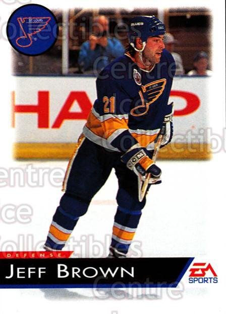 1994 EA Sports #121 Jeff Brown<br/>5 In Stock - $1.00 each - <a href=https://centericecollectibles.foxycart.com/cart?name=1994%20EA%20Sports%20%23121%20Jeff%20Brown...&quantity_max=5&price=$1.00&code=2542 class=foxycart> Buy it now! </a>