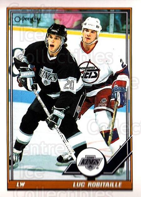 1991-92 O-Pee-Chee #405 Luc Robitaille<br/>5 In Stock - $1.00 each - <a href=https://centericecollectibles.foxycart.com/cart?name=1991-92%20O-Pee-Chee%20%23405%20Luc%20Robitaille...&quantity_max=5&price=$1.00&code=254372 class=foxycart> Buy it now! </a>