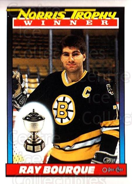 1991-92 O-Pee-Chee #517 Ray Bourque, Norris Trophy<br/>6 In Stock - $1.00 each - <a href=https://centericecollectibles.foxycart.com/cart?name=1991-92%20O-Pee-Chee%20%23517%20Ray%20Bourque,%20No...&quantity_max=6&price=$1.00&code=254484 class=foxycart> Buy it now! </a>