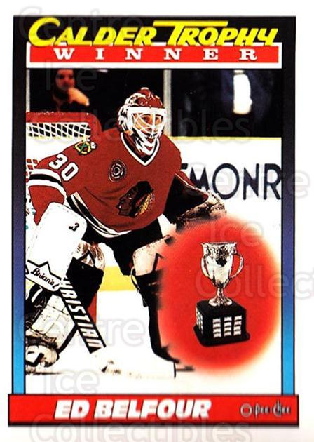 1991-92 O-Pee-Chee #518 Ed Belfour, Calder Trophy<br/>5 In Stock - $1.00 each - <a href=https://centericecollectibles.foxycart.com/cart?name=1991-92%20O-Pee-Chee%20%23518%20Ed%20Belfour,%20Cal...&price=$1.00&code=254485 class=foxycart> Buy it now! </a>