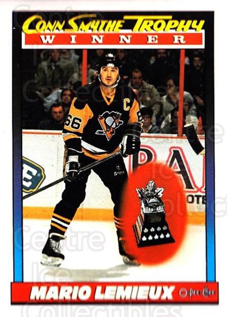 1991-92 O-Pee-Chee #523 Mario Lemieux, Conn Smythe Trophy<br/>5 In Stock - $2.00 each - <a href=https://centericecollectibles.foxycart.com/cart?name=1991-92%20O-Pee-Chee%20%23523%20Mario%20Lemieux,%20...&price=$2.00&code=254490 class=foxycart> Buy it now! </a>