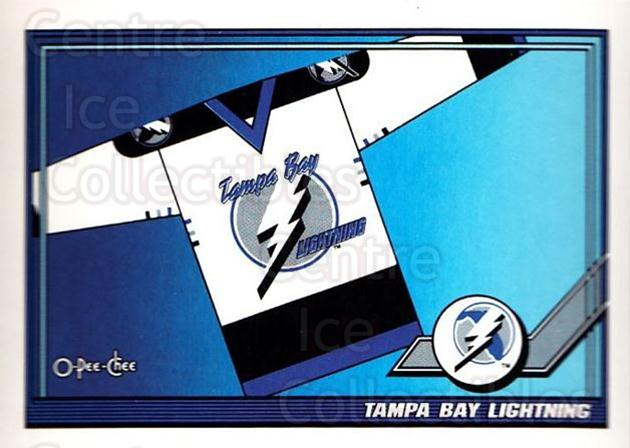 1991-92 O-Pee-Chee #526 Tampa Bay Lightning<br/>6 In Stock - $1.00 each - <a href=https://centericecollectibles.foxycart.com/cart?name=1991-92%20O-Pee-Chee%20%23526%20Tampa%20Bay%20Light...&quantity_max=6&price=$1.00&code=254493 class=foxycart> Buy it now! </a>