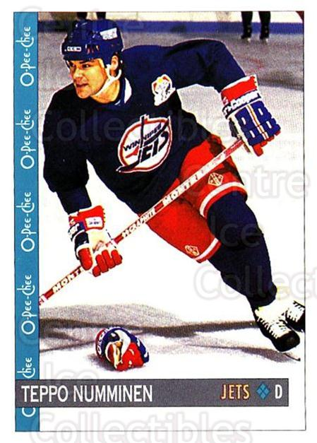 1992-93 O-Pee-Chee #4 Teppo Numminen<br/>5 In Stock - $1.00 each - <a href=https://centericecollectibles.foxycart.com/cart?name=1992-93%20O-Pee-Chee%20%234%20Teppo%20Numminen...&quantity_max=5&price=$1.00&code=254499 class=foxycart> Buy it now! </a>