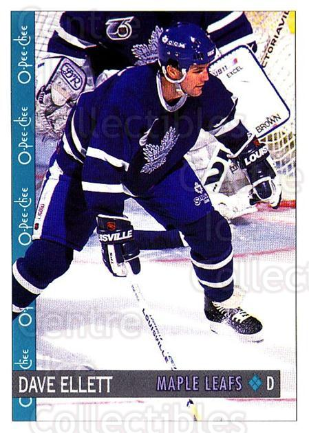 1992-93 O-Pee-Chee #9 Dave Ellett<br/>5 In Stock - $1.00 each - <a href=https://centericecollectibles.foxycart.com/cart?name=1992-93%20O-Pee-Chee%20%239%20Dave%20Ellett...&quantity_max=5&price=$1.00&code=254504 class=foxycart> Buy it now! </a>