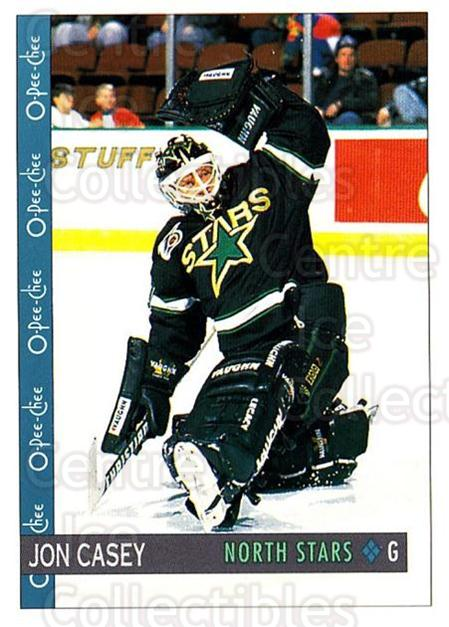 1992-93 O-Pee-Chee #16 Jon Casey<br/>4 In Stock - $1.00 each - <a href=https://centericecollectibles.foxycart.com/cart?name=1992-93%20O-Pee-Chee%20%2316%20Jon%20Casey...&quantity_max=4&price=$1.00&code=254511 class=foxycart> Buy it now! </a>