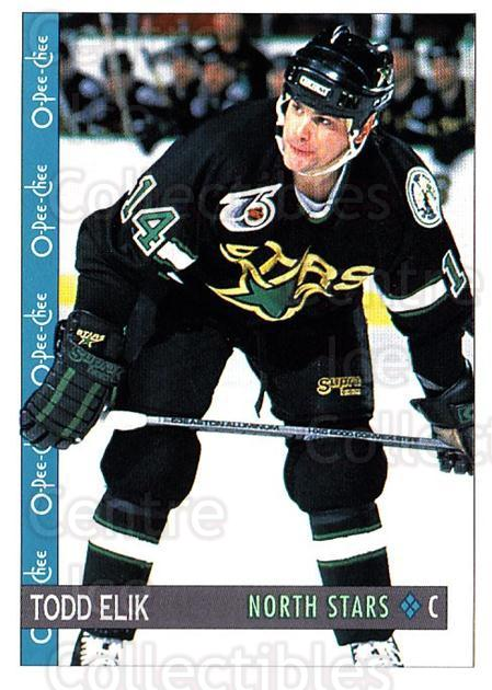 1992-93 O-Pee-Chee #20 Todd Elik<br/>2 In Stock - $1.00 each - <a href=https://centericecollectibles.foxycart.com/cart?name=1992-93%20O-Pee-Chee%20%2320%20Todd%20Elik...&quantity_max=2&price=$1.00&code=254515 class=foxycart> Buy it now! </a>