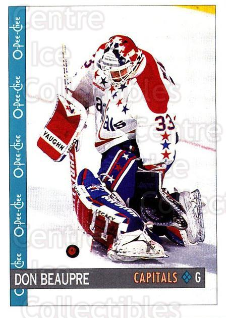 1992-93 O-Pee-Chee #28 Don Beaupre<br/>5 In Stock - $1.00 each - <a href=https://centericecollectibles.foxycart.com/cart?name=1992-93%20O-Pee-Chee%20%2328%20Don%20Beaupre...&quantity_max=5&price=$1.00&code=254523 class=foxycart> Buy it now! </a>