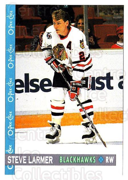 1992-93 O-Pee-Chee #32 Steve Larmer<br/>6 In Stock - $1.00 each - <a href=https://centericecollectibles.foxycart.com/cart?name=1992-93%20O-Pee-Chee%20%2332%20Steve%20Larmer...&quantity_max=6&price=$1.00&code=254527 class=foxycart> Buy it now! </a>