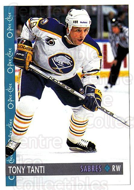 1992-93 O-Pee-Chee #34 Tony Tanti<br/>5 In Stock - $1.00 each - <a href=https://centericecollectibles.foxycart.com/cart?name=1992-93%20O-Pee-Chee%20%2334%20Tony%20Tanti...&quantity_max=5&price=$1.00&code=254529 class=foxycart> Buy it now! </a>