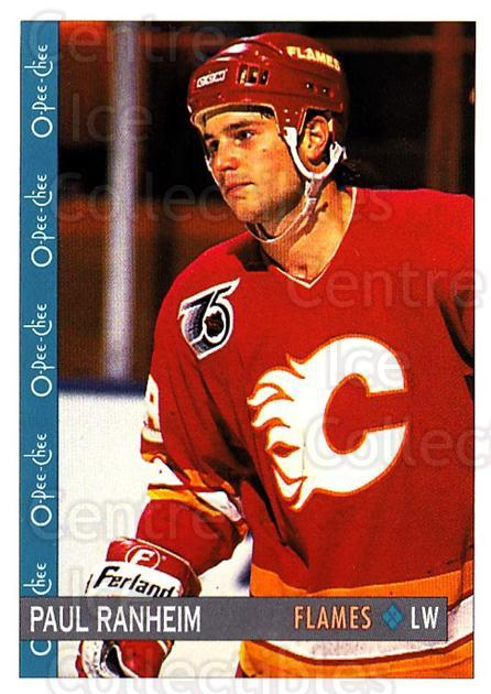 1992-93 O-Pee-Chee #36 Paul Ranheim<br/>3 In Stock - $1.00 each - <a href=https://centericecollectibles.foxycart.com/cart?name=1992-93%20O-Pee-Chee%20%2336%20Paul%20Ranheim...&quantity_max=3&price=$1.00&code=254531 class=foxycart> Buy it now! </a>