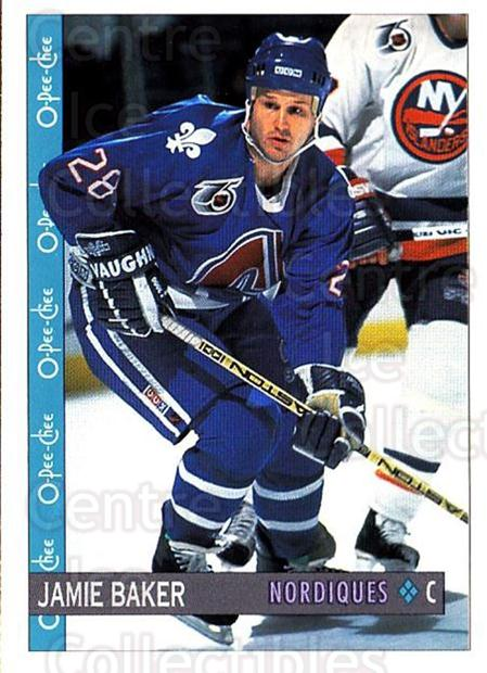 1992-93 O-Pee-Chee #41 Jamie Baker<br/>6 In Stock - $1.00 each - <a href=https://centericecollectibles.foxycart.com/cart?name=1992-93%20O-Pee-Chee%20%2341%20Jamie%20Baker...&quantity_max=6&price=$1.00&code=254536 class=foxycart> Buy it now! </a>