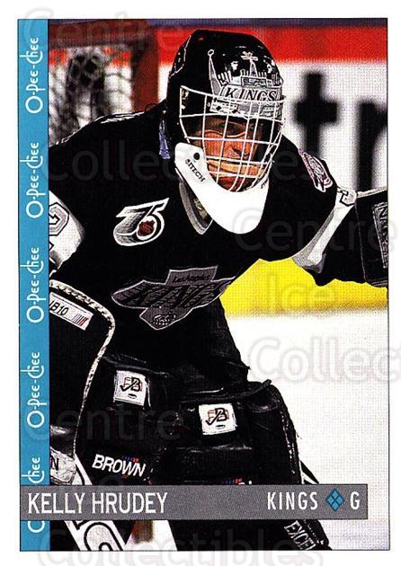 1992-93 O-Pee-Chee #44 Kelly Hrudey<br/>6 In Stock - $1.00 each - <a href=https://centericecollectibles.foxycart.com/cart?name=1992-93%20O-Pee-Chee%20%2344%20Kelly%20Hrudey...&quantity_max=6&price=$1.00&code=254539 class=foxycart> Buy it now! </a>