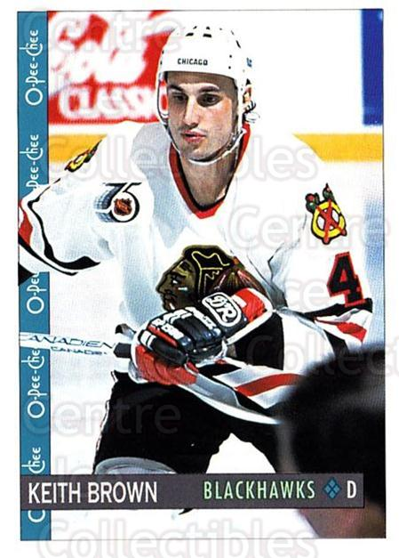 1992-93 O-Pee-Chee #48 Keith Brown<br/>6 In Stock - $1.00 each - <a href=https://centericecollectibles.foxycart.com/cart?name=1992-93%20O-Pee-Chee%20%2348%20Keith%20Brown...&quantity_max=6&price=$1.00&code=254543 class=foxycart> Buy it now! </a>