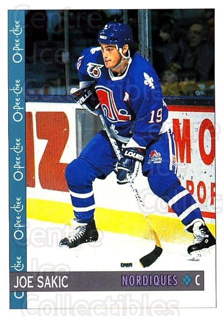 1992-93 O-Pee-Chee #54 Joe Sakic<br/>6 In Stock - $2.00 each - <a href=https://centericecollectibles.foxycart.com/cart?name=1992-93%20O-Pee-Chee%20%2354%20Joe%20Sakic...&quantity_max=6&price=$2.00&code=254549 class=foxycart> Buy it now! </a>