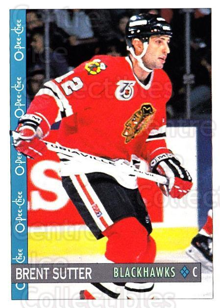 1992-93 O-Pee-Chee #60 Brent Sutter<br/>6 In Stock - $1.00 each - <a href=https://centericecollectibles.foxycart.com/cart?name=1992-93%20O-Pee-Chee%20%2360%20Brent%20Sutter...&quantity_max=6&price=$1.00&code=254555 class=foxycart> Buy it now! </a>