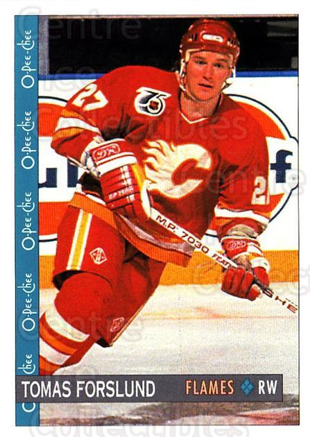 1992-93 O-Pee-Chee #70 Tomas Forslund<br/>3 In Stock - $1.00 each - <a href=https://centericecollectibles.foxycart.com/cart?name=1992-93%20O-Pee-Chee%20%2370%20Tomas%20Forslund...&quantity_max=3&price=$1.00&code=254565 class=foxycart> Buy it now! </a>