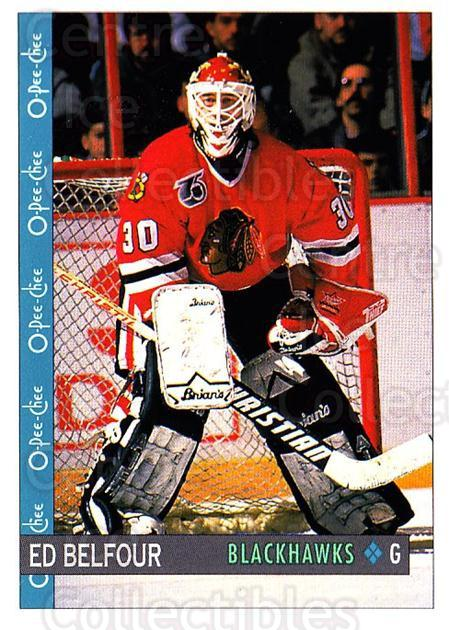 1992-93 O-Pee-Chee #81 Ed Belfour<br/>1 In Stock - $1.00 each - <a href=https://centericecollectibles.foxycart.com/cart?name=1992-93%20O-Pee-Chee%20%2381%20Ed%20Belfour...&price=$1.00&code=254576 class=foxycart> Buy it now! </a>