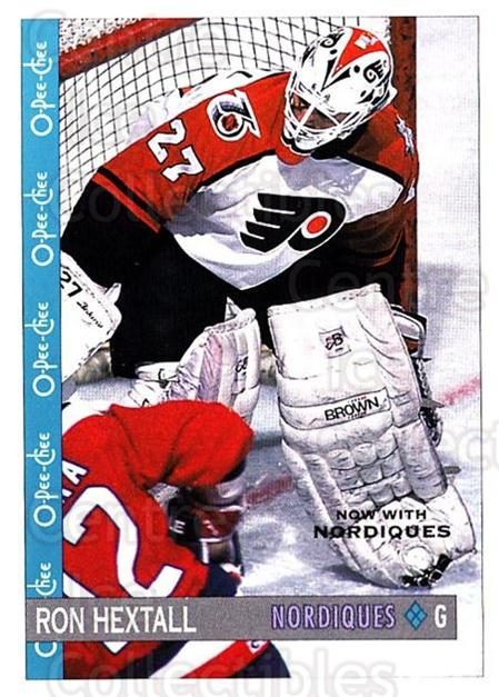 1992-93 O-Pee-Chee #84 Ron Hextall<br/>7 In Stock - $1.00 each - <a href=https://centericecollectibles.foxycart.com/cart?name=1992-93%20O-Pee-Chee%20%2384%20Ron%20Hextall...&quantity_max=7&price=$1.00&code=254579 class=foxycart> Buy it now! </a>