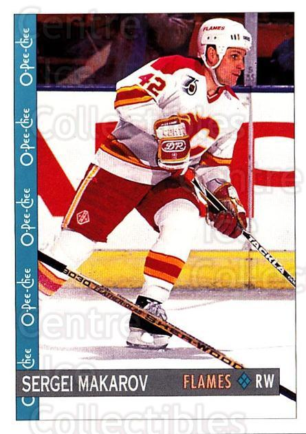 1992-93 O-Pee-Chee #90 Sergei Makarov<br/>6 In Stock - $1.00 each - <a href=https://centericecollectibles.foxycart.com/cart?name=1992-93%20O-Pee-Chee%20%2390%20Sergei%20Makarov...&quantity_max=6&price=$1.00&code=254585 class=foxycart> Buy it now! </a>