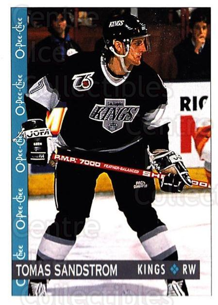 1992-93 O-Pee-Chee #91 Tomas Sandstrom<br/>6 In Stock - $1.00 each - <a href=https://centericecollectibles.foxycart.com/cart?name=1992-93%20O-Pee-Chee%20%2391%20Tomas%20Sandstrom...&quantity_max=6&price=$1.00&code=254586 class=foxycart> Buy it now! </a>