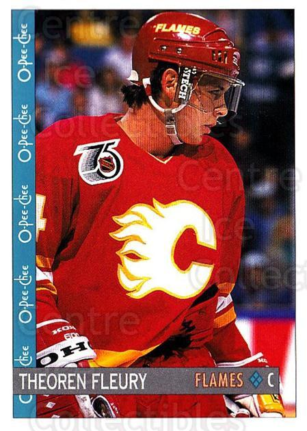 1992-93 O-Pee-Chee #99 Theo Fleury<br/>7 In Stock - $1.00 each - <a href=https://centericecollectibles.foxycart.com/cart?name=1992-93%20O-Pee-Chee%20%2399%20Theo%20Fleury...&quantity_max=7&price=$1.00&code=254594 class=foxycart> Buy it now! </a>