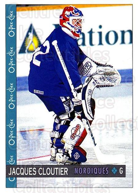 1992-93 O-Pee-Chee #113 Jacques Cloutier<br/>4 In Stock - $1.00 each - <a href=https://centericecollectibles.foxycart.com/cart?name=1992-93%20O-Pee-Chee%20%23113%20Jacques%20Cloutie...&quantity_max=4&price=$1.00&code=254608 class=foxycart> Buy it now! </a>