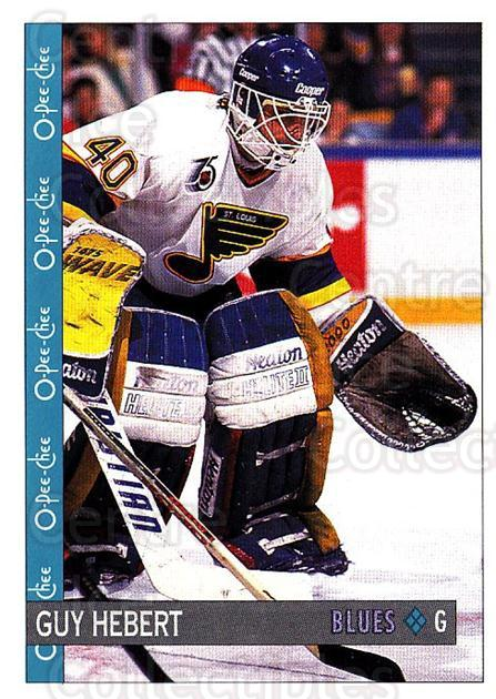 1992-93 O-Pee-Chee #116 Guy Hebert<br/>6 In Stock - $1.00 each - <a href=https://centericecollectibles.foxycart.com/cart?name=1992-93%20O-Pee-Chee%20%23116%20Guy%20Hebert...&quantity_max=6&price=$1.00&code=254611 class=foxycart> Buy it now! </a>