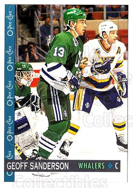 1992-93 O-Pee-Chee #122 Geoff Sanderson<br/>5 In Stock - $1.00 each - <a href=https://centericecollectibles.foxycart.com/cart?name=1992-93%20O-Pee-Chee%20%23122%20Geoff%20Sanderson...&quantity_max=5&price=$1.00&code=254617 class=foxycart> Buy it now! </a>