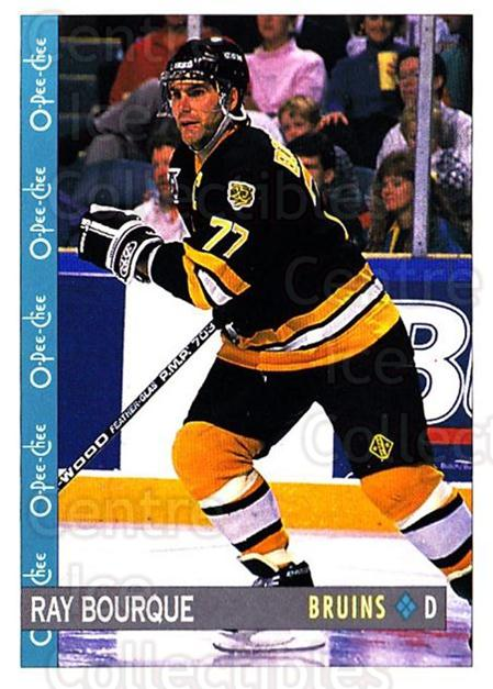 1992-93 O-Pee-Chee #126 Ray Bourque<br/>4 In Stock - $1.00 each - <a href=https://centericecollectibles.foxycart.com/cart?name=1992-93%20O-Pee-Chee%20%23126%20Ray%20Bourque...&quantity_max=4&price=$1.00&code=254621 class=foxycart> Buy it now! </a>