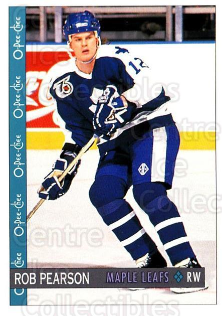 1992-93 O-Pee-Chee #136 Rob Pearson<br/>3 In Stock - $1.00 each - <a href=https://centericecollectibles.foxycart.com/cart?name=1992-93%20O-Pee-Chee%20%23136%20Rob%20Pearson...&quantity_max=3&price=$1.00&code=254631 class=foxycart> Buy it now! </a>