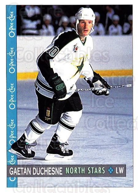 1992-93 O-Pee-Chee #143 Gaetan Duchesne<br/>6 In Stock - $1.00 each - <a href=https://centericecollectibles.foxycart.com/cart?name=1992-93%20O-Pee-Chee%20%23143%20Gaetan%20Duchesne...&quantity_max=6&price=$1.00&code=254638 class=foxycart> Buy it now! </a>