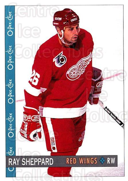 1992-93 O-Pee-Chee #154 Ray Sheppard<br/>6 In Stock - $1.00 each - <a href=https://centericecollectibles.foxycart.com/cart?name=1992-93%20O-Pee-Chee%20%23154%20Ray%20Sheppard...&quantity_max=6&price=$1.00&code=254649 class=foxycart> Buy it now! </a>