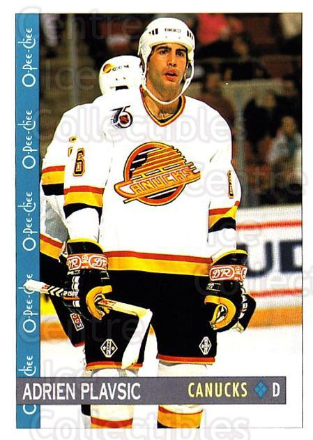 1992-93 O-Pee-Chee #156 Adrien Plavsic<br/>3 In Stock - $1.00 each - <a href=https://centericecollectibles.foxycart.com/cart?name=1992-93%20O-Pee-Chee%20%23156%20Adrien%20Plavsic...&quantity_max=3&price=$1.00&code=254651 class=foxycart> Buy it now! </a>