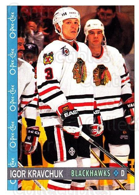 1992-93 O-Pee-Chee #161 Igor Kravchuk<br/>7 In Stock - $1.00 each - <a href=https://centericecollectibles.foxycart.com/cart?name=1992-93%20O-Pee-Chee%20%23161%20Igor%20Kravchuk...&quantity_max=7&price=$1.00&code=254656 class=foxycart> Buy it now! </a>