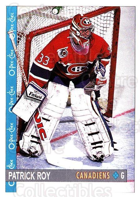 1992-93 O-Pee-Chee #164 Patrick Roy<br/>1 In Stock - $2.00 each - <a href=https://centericecollectibles.foxycart.com/cart?name=1992-93%20O-Pee-Chee%20%23164%20Patrick%20Roy...&quantity_max=1&price=$2.00&code=254659 class=foxycart> Buy it now! </a>