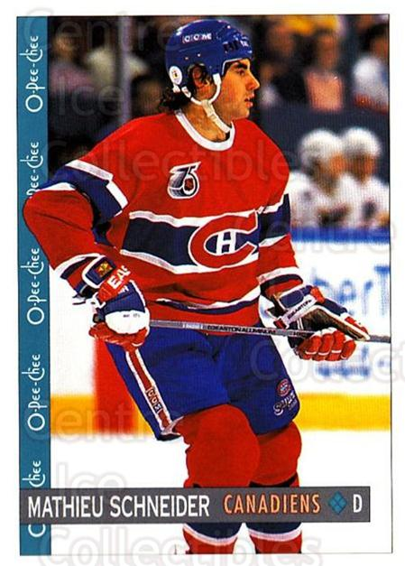 1992-93 O-Pee-Chee #166 Mathieu Schneider<br/>4 In Stock - $1.00 each - <a href=https://centericecollectibles.foxycart.com/cart?name=1992-93%20O-Pee-Chee%20%23166%20Mathieu%20Schneid...&quantity_max=4&price=$1.00&code=254661 class=foxycart> Buy it now! </a>