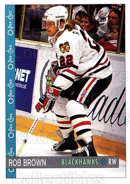 1992-93 O-Pee-Chee #170 Rob Brown<br/>6 In Stock - $1.00 each - <a href=https://centericecollectibles.foxycart.com/cart?name=1992-93%20O-Pee-Chee%20%23170%20Rob%20Brown...&quantity_max=6&price=$1.00&code=254665 class=foxycart> Buy it now! </a>