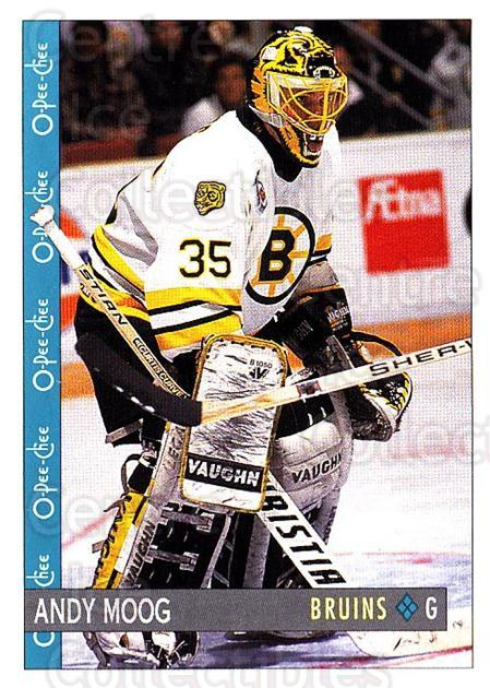 1992-93 O-Pee-Chee #184 Andy Moog<br/>4 In Stock - $1.00 each - <a href=https://centericecollectibles.foxycart.com/cart?name=1992-93%20O-Pee-Chee%20%23184%20Andy%20Moog...&quantity_max=4&price=$1.00&code=254679 class=foxycart> Buy it now! </a>