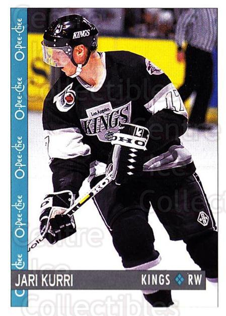 1992-93 O-Pee-Chee #205 Jari Kurri<br/>5 In Stock - $1.00 each - <a href=https://centericecollectibles.foxycart.com/cart?name=1992-93%20O-Pee-Chee%20%23205%20Jari%20Kurri...&quantity_max=5&price=$1.00&code=254700 class=foxycart> Buy it now! </a>
