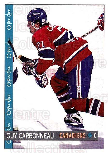 1992-93 O-Pee-Chee #206 Guy Carbonneau<br/>5 In Stock - $1.00 each - <a href=https://centericecollectibles.foxycart.com/cart?name=1992-93%20O-Pee-Chee%20%23206%20Guy%20Carbonneau...&quantity_max=5&price=$1.00&code=254701 class=foxycart> Buy it now! </a>