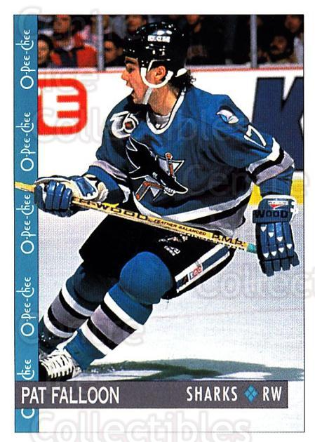 1992-93 O-Pee-Chee #227 Pat Falloon<br/>6 In Stock - $1.00 each - <a href=https://centericecollectibles.foxycart.com/cart?name=1992-93%20O-Pee-Chee%20%23227%20Pat%20Falloon...&quantity_max=6&price=$1.00&code=254722 class=foxycart> Buy it now! </a>