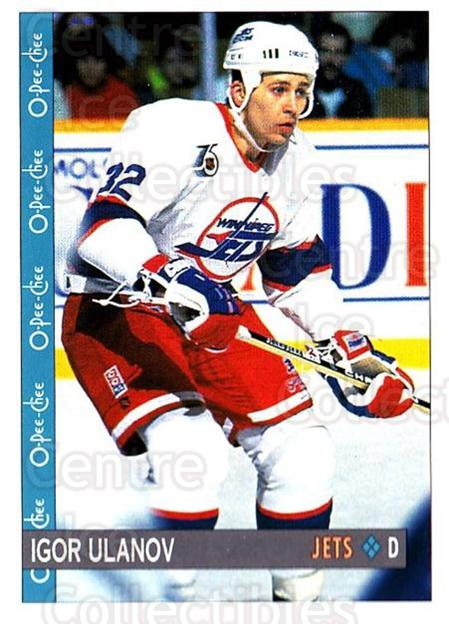 1992-93 O-Pee-Chee #229 Igor Ulanov<br/>7 In Stock - $1.00 each - <a href=https://centericecollectibles.foxycart.com/cart?name=1992-93%20O-Pee-Chee%20%23229%20Igor%20Ulanov...&quantity_max=7&price=$1.00&code=254724 class=foxycart> Buy it now! </a>
