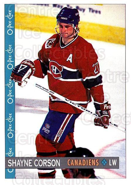 1992-93 O-Pee-Chee #231 Shayne Corson<br/>6 In Stock - $1.00 each - <a href=https://centericecollectibles.foxycart.com/cart?name=1992-93%20O-Pee-Chee%20%23231%20Shayne%20Corson...&quantity_max=6&price=$1.00&code=254726 class=foxycart> Buy it now! </a>