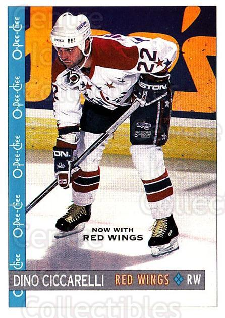 1992-93 O-Pee-Chee #249 Dino Ciccarelli<br/>6 In Stock - $1.00 each - <a href=https://centericecollectibles.foxycart.com/cart?name=1992-93%20O-Pee-Chee%20%23249%20Dino%20Ciccarelli...&quantity_max=6&price=$1.00&code=254744 class=foxycart> Buy it now! </a>