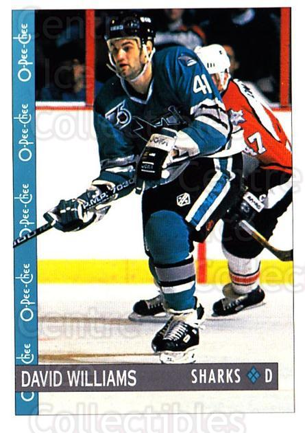1992-93 O-Pee-Chee #250 David Williams<br/>6 In Stock - $1.00 each - <a href=https://centericecollectibles.foxycart.com/cart?name=1992-93%20O-Pee-Chee%20%23250%20David%20Williams...&quantity_max=6&price=$1.00&code=254745 class=foxycart> Buy it now! </a>