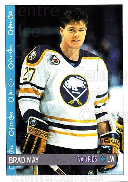1992-93 O-Pee-Chee #256 Brad May<br/>6 In Stock - $1.00 each - <a href=https://centericecollectibles.foxycart.com/cart?name=1992-93%20O-Pee-Chee%20%23256%20Brad%20May...&quantity_max=6&price=$1.00&code=254751 class=foxycart> Buy it now! </a>