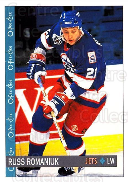1992-93 O-Pee-Chee #263 Russ Romaniuk<br/>6 In Stock - $1.00 each - <a href=https://centericecollectibles.foxycart.com/cart?name=1992-93%20O-Pee-Chee%20%23263%20Russ%20Romaniuk...&quantity_max=6&price=$1.00&code=254758 class=foxycart> Buy it now! </a>