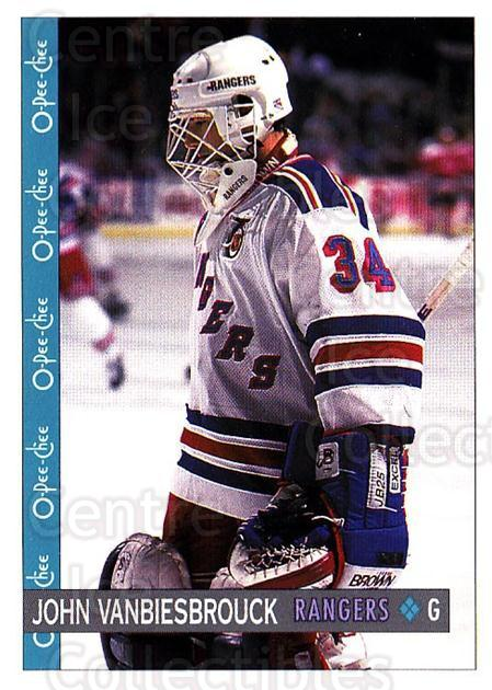 1992-93 O-Pee-Chee #275 John Vanbiesbrouck<br/>5 In Stock - $1.00 each - <a href=https://centericecollectibles.foxycart.com/cart?name=1992-93%20O-Pee-Chee%20%23275%20John%20Vanbiesbro...&quantity_max=5&price=$1.00&code=254770 class=foxycart> Buy it now! </a>